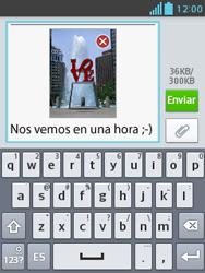 Envía fotos, videos y audio por mensaje de texto - LG Optimus L3 II - Passo 16