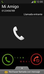 Contesta, rechaza o silencia una llamada - Samsung Galaxy Trend Plus S7580 - Passo 3