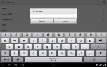 Configura el Internet - Samsung Galaxy Note 10-1 - N8000 - Passo 14