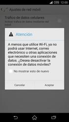 Desactiva tu conexión de datos - Sony Xperia Z2 D6503 - Passo 6