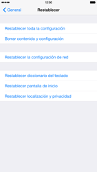 Restaura la configuración de fábrica - Apple iPhone 6 - Passo 5