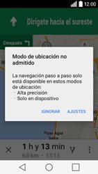 Uso de la navegación GPS - LG C50 - Passo 21
