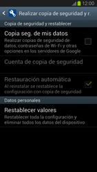 Restaura la configuración de fábrica - Samsung Galaxy S 3  GT - I9300 - Passo 5