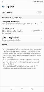Configura el hotspot móvil - Huawei P20 - Passo 9