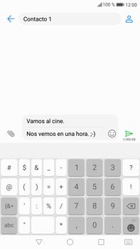 Envía fotos, videos y audio por mensaje de texto - Huawei Mate 9 - Passo 12