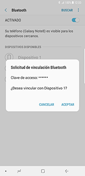 Conecta con otro dispositivo Bluetooth - Samsung Galaxy Note 8 - Passo 8