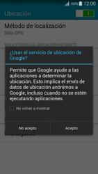Uso de la navegación GPS - Samsung Galaxy A5 - A500M - Passo 20