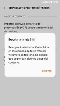 ¿Tu equipo puede copiar contactos a la SIM card? - Samsung Galaxy J7 Prime - Passo 9