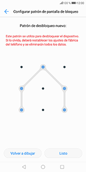 Desbloqueo del equipo por medio del patrón - Huawei P Smart - Passo 10