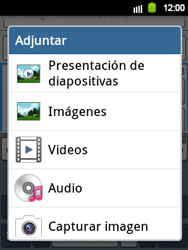 Envía fotos, videos y audio por mensaje de texto - Samsung Galaxy Y  GT - S5360 - Passo 12
