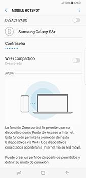Configura el hotspot móvil - Samsung Galaxy S8+ - Passo 8
