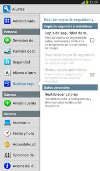 Restaura la configuración de fábrica - Samsung Galaxy Tab 3 7.0 - Passo 5