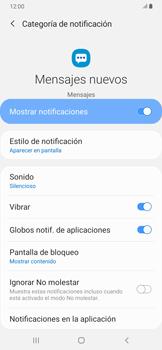 Modo silencio y vibración para mensajes - Samsung Galaxy A30 - Passo 12