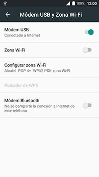 Comparte la conexión de datos con una PC - Alcatel POP 4 Plus - 5056 - Passo 8
