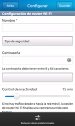 Configura el hotspot móvil - BlackBerry Z10 - Passo 14