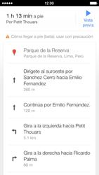 Uso de la navegación GPS - Apple iPhone 5s - Passo 19