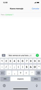 Envía fotos, videos y audio por mensaje de texto - Apple iPhone X - Passo 7