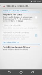 Restaura la configuración de fábrica - Sony Xperia Z2 D6503 - Passo 5
