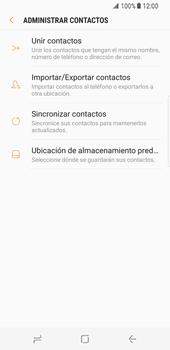 ¿Tu equipo puede copiar contactos a la SIM card? - Samsung Galaxy S8 - Passo 7