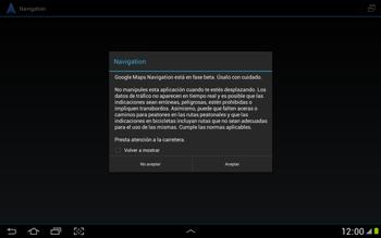 Uso de la navegación GPS - Samsung Galaxy Note 10-1 - N8000 - Passo 21