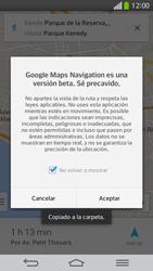 Uso de la navegación GPS - LG G Flex - Passo 20