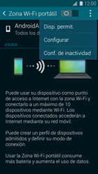 Configura el hotspot móvil - Samsung Galaxy S5 - G900F - Passo 7