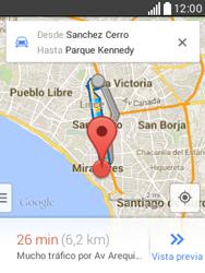 Uso de la navegación GPS - LG L20 - Passo 14