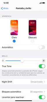 Ajustar el brillo/ Suspensión de pantalla - Apple iPhone XS - Passo 3