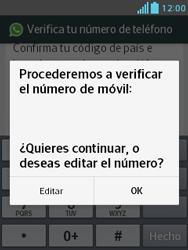 Configuración de Whatsapp - LG Optimus L3 II - Passo 6