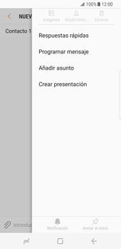 Envía fotos, videos y audio por mensaje de texto - Samsung Galaxy S8 - Passo 8