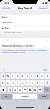Crea una cuenta - Apple iPhone XS Max - Passo 8