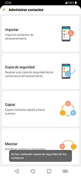 ¿Tu equipo puede copiar contactos a la SIM card? - LG G7 Fit - Passo 13