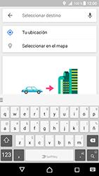 Uso de la navegación GPS - Sony Xperia XZ Premium - Passo 15