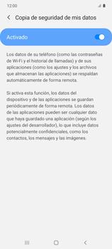 Realiza una copia de seguridad con tu cuenta - Samsung Galaxy S10 Lite - Passo 8
