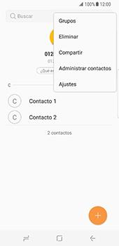¿Tu equipo puede copiar contactos a la SIM card? - Samsung Galaxy S8 - Passo 6