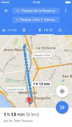 Uso de la navegación GPS - Apple iPhone 5c - Passo 18