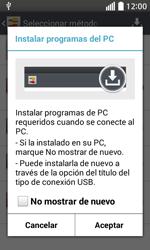 Comparte la conexión de datos con una PC - LG L70 - Passo 3