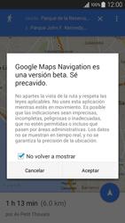 Uso de la navegación GPS - Samsung Galaxy A3 - A300M - Passo 17