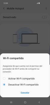 Configura el hotspot móvil - Samsung S10+ - Passo 7