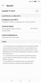Configura el hotspot móvil - Huawei Y7 (2018) - Passo 9