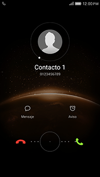Contesta, rechaza o silencia una llamada - Huawei G8 Rio - Passo 3