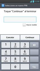 Activa o desactiva el uso del código de seguridad - LG Optimus G Pro Lite - Passo 7