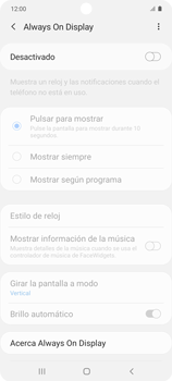 Cómo activar Always on Display - Samsung Galaxy S10 Lite - Passo 6