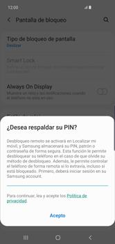 Activa o desactiva el uso del código de seguridad - Samsung S10+ - Passo 11
