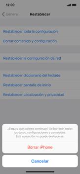 Restaura la configuración de fábrica - Apple iPhone X - Passo 7