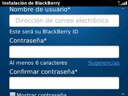 Crea una cuenta - BlackBerry Curve 9320 - Passo 7