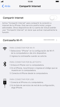 Configura el hotspot móvil - Apple iPhone 8 Plus - Passo 6