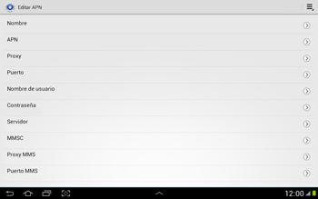 Configura el Internet - Samsung Galaxy Note 10-1 - N8000 - Passo 11