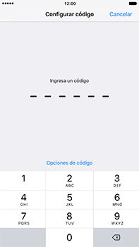 Activa o desactiva el uso del código de seguridad - Apple iPhone 7 Plus - Passo 4