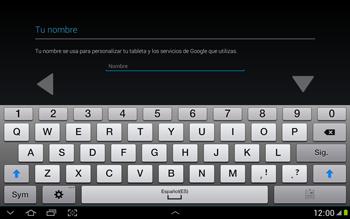 Crea una cuenta - Samsung Galaxy Note 10-1 - N8000 - Passo 4